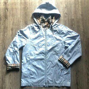 Burberry London Light Blue Windbreaker Rain Jacket